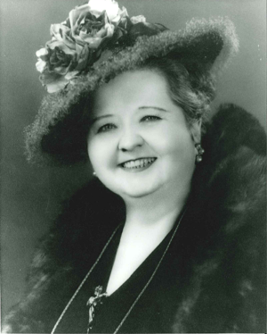 Edna Gladney in One Of Her Signature Hats