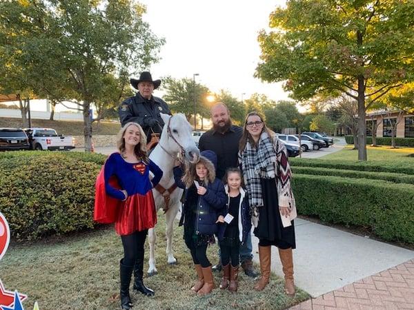 Gladney Adoption Day Superhero and Horse
